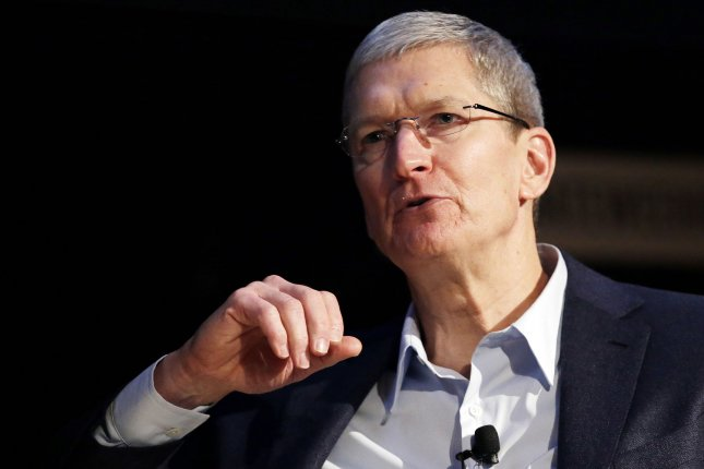 Apple CEO Tim Cook speaks at a Climate Week NYC event at the Morgan Library and Museum in New York City on September 22, 2014. Climate Week NYC events are scheduled to continue through Sunday, September 28 and coincide with the U.N.'s 2014 Climate Summit. UPI/John Angelillo
