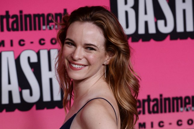Actress Danielle Panabaker shared a first photo Monday from her June 24 wedding to Hayes Robbins. File Photo by Jim Ruymen/UPI