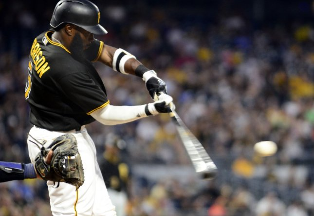 Josh Harrison and the Pittsburgh Pirates fought their way past the Toronto Blue Jays on Friday. Photo by Archie Carpenter/UPI
