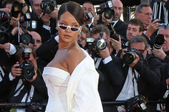 Rihanna attends the Cannes International Film Festival screening of Okja on May 19. The singer unveiled a motocross and surf-inspired collection Sunday at New York Fashion Week. File Photo by David Silpa/UPI