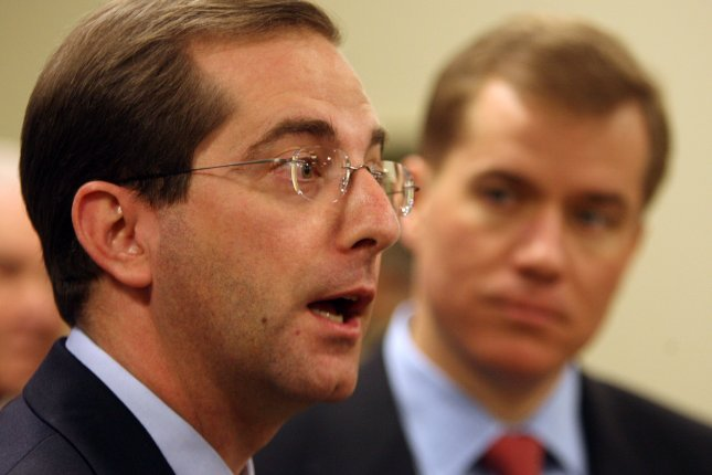 Former U.S. Department of Health and Human Services Deputy Secretary Alex Azar was nominated by President Donald Trump Monday to lead the department as secretary, a post left vacant by the departure of Tom Price in September. File Photo by Bill Greenblatt/UPI