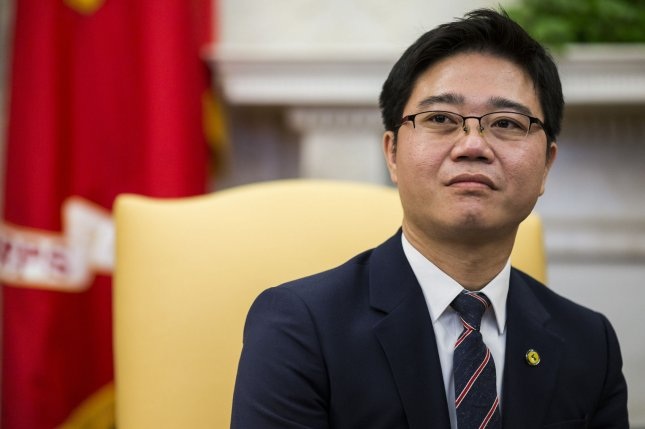 North Korean defector Ji Seong-ho, who escaped his country after losing his limbs, was honored with a South Korean human rights award on Monday. File Photo by Zach Gibson/UPI