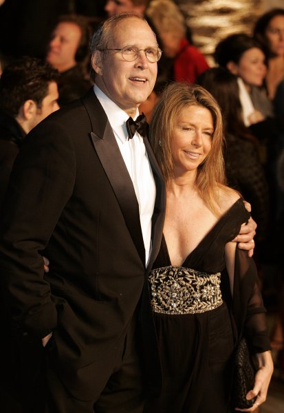 Chevy Chase (L) and guest arrive at the Vanity Fair post-79th Academy Awards party at Morton's in West Hollywood on February 25, 2007. (UPI Photo/Gary C. Caskey)