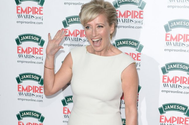 British actress Emma Thompson attends the Empire Awards in London on March 30, 2014. Thompson is to guest star as Queen Elizabeth I in the BBC's Upstart Crow. File Photo by Rune Hellestad/UPI