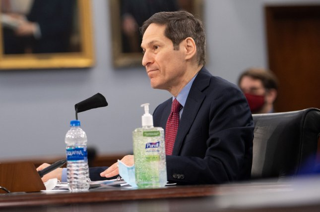 Former CDC Administrator Tom Frieden, shown here testifying on COVID-19 response during a House Appropriations Subcommittee Hearing, on Capitol Hill in May, said Friday that the United States needs a more comprehensive strategy to stop the spread of COVID-19. File Photo by Kevin Dietsch/UPI