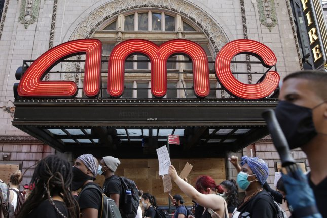 AMC Theaters announced it is attempting to recoup some of its losses from the COVID-19 pandemic by offering customers the chance to rent out an entire theater for rates starting at $99. File Photo by John Angelillo/UPI