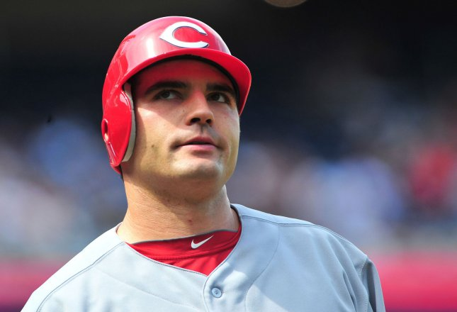 Cincinnati Reds Joey Votto is seen as the Reds play the Washington Nationals at Nationals Park in Washington, D.C. on April 15, 2012. UPI/Kevin Dietsch