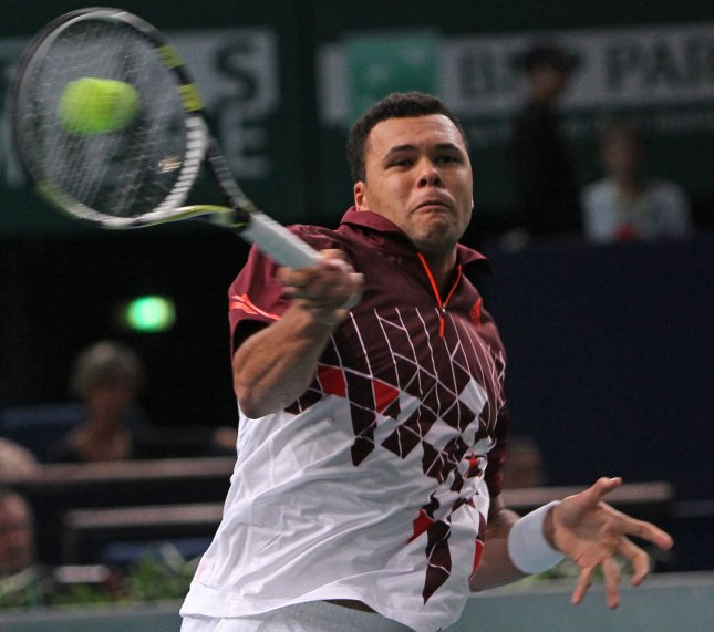 Jo-Wilfried Tsonga, shown in a tournament last November, is among the semifinalists at the Open 13 tennis tournament in France after picking up a win Friday. UPI/David Silpa