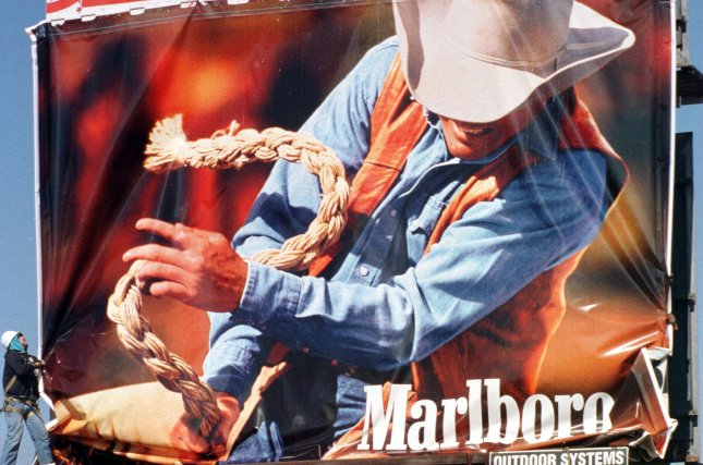 Darrell Hugh Winfield, who was the subject of Marlboro Man ads like this one, died Monday. He was 85. File photo by Bill Greenblatt/UPI.