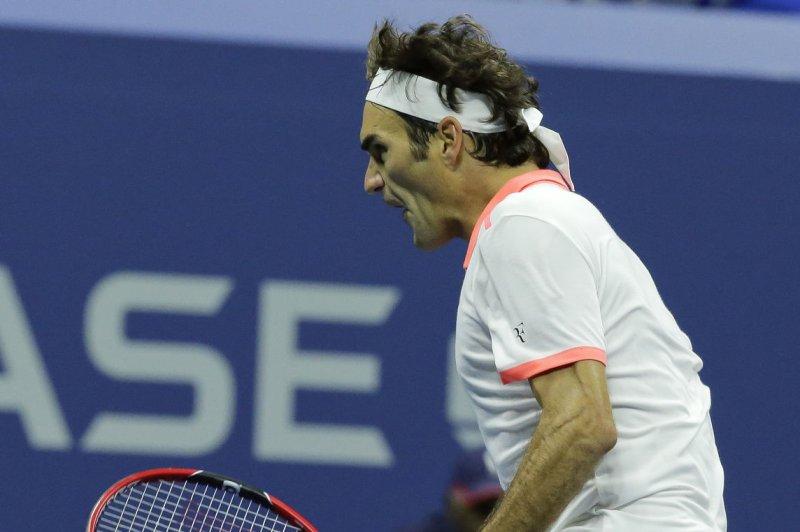 Roger Federer of Switzerland. Photo by Ray Stubblebine/UPI