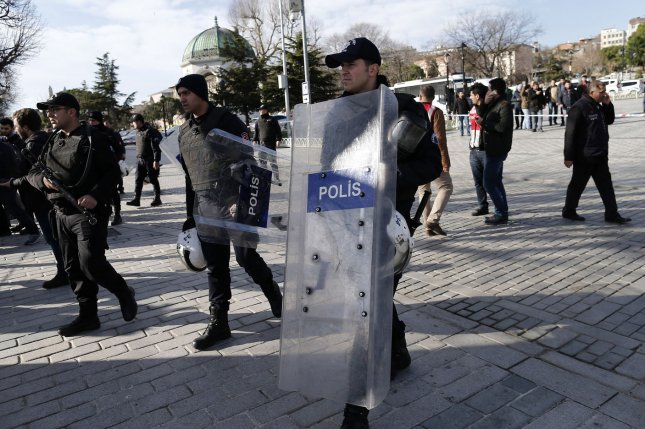 Turkish police officers are among those who were wounded in a car bombing on Thursday in the city of Diyarbakir. The mainly Kurdish city in southeast Turkey has been under siege after months of fighting between security forces and the militant Kurdistan Workers' Party, or PKK. Photo by Ali Turkel/UPI