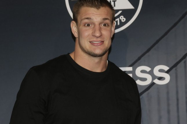New England Patriots' TE Rob Gronkowski is nursing a hamstring injury and is not expected to play in Sunday's season opener, according to reports. File photo by John Angelillo/UPI
