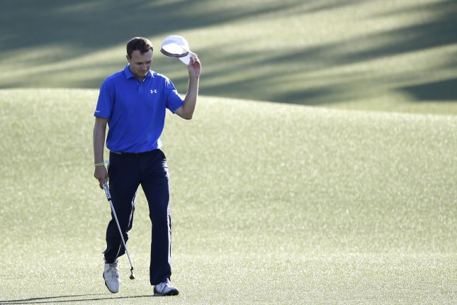 Jordan Spieth walks to the 18th green in the final round of the 2017 Masters Tournament at Augusta National Golf Club in Augusta, Georgia on April 9, 2017. Sergio Garcia of Spain defeated Justin Rose of England in a one hole playoff to win his first major championship. Spieth will be a top contender at this week's Memorial Tournament. File photo by John Angelillo/UPI
