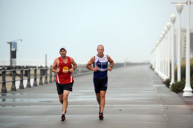 A new study has found that recreational runners have a lower risk of hip and knee arthritis than sedentary individuals or competitive runners. Photo by Roger L. Wollenberg/UPI