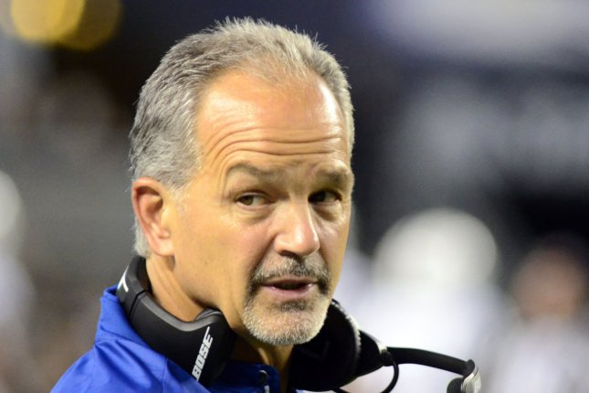 Indianapolis Colts head coach Chuck Pagano during the second quarter of the Colts 19-15 win against the Pittsburgh Steelers of their preseason game at Heinz Field on August 26, 2017 in Pittsburgh. File photo by Archie Carpenter/UPI