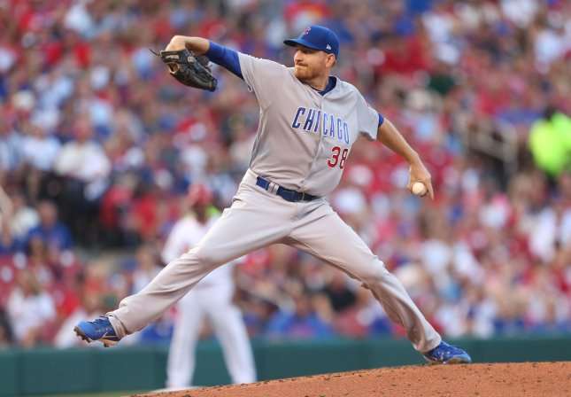Mike Montgomery and the Chicago Cubs take on the Washington Nationals on Thursday. Photo by Bill Greenblatt/UPI