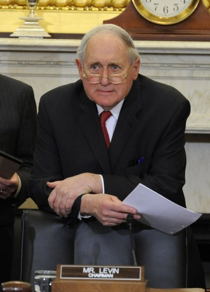 Senate Armed Services Committee Chairman Sen. Carl Levin, D-Mich., on Capitol Hill in Washington, Feb. 12, 2013. UPI/Mike Theiler