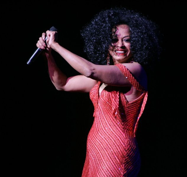Diana Ross, shown in a 2008 concert, says she did not attend the public memorial service for Michael Jackson because she is trying to find closure. (UPI Photo/Michael Bush)