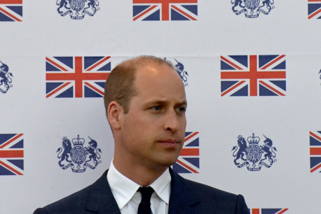 Britian's Prince William, the duke of Cambridge, delivers a speech during a reception at the British Consulate in East Jerusalem in 2018. File Photo by Debbie Hill/UPI