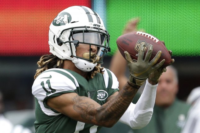 New York Jets wide receiver Robby Anderson was one of the top wideouts remaining in free agency. He recorded 52 receptions for 779 yards and five touchdowns last season. File Photo by John Angelillo/UPI