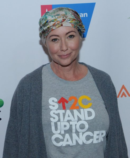 Shannen Doherty said she remains hopeful in her battle against Stage IV breast cancer. File Photo by Jim Ruymen/UPI