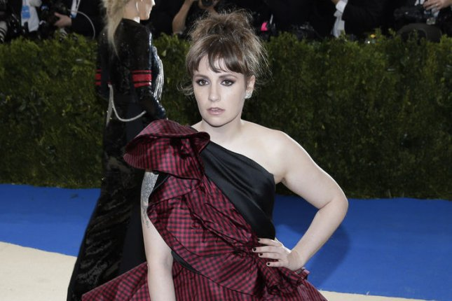 Lena Dunham has wrapped production on her film Sharp Stick, which she wrote, directed and starred in. Jennifer Jason Leigh and Jon Bernthal also star. File Photo by John Angelillo/UPI
