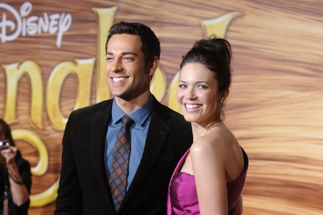 Zachary Levi and Mandy Moore. Photo by Phil McCarten/UPI