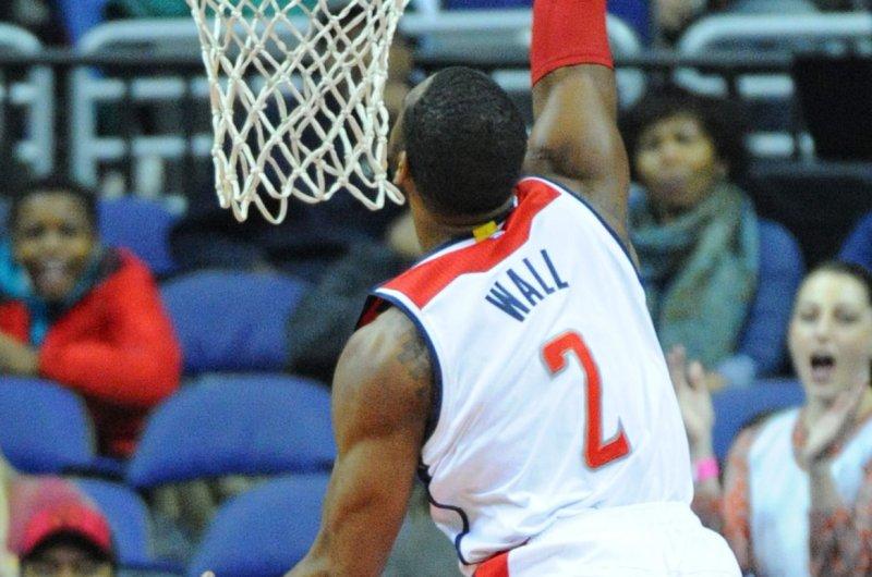 Washington Wizards guard John Wall (2). Photo by Mark Goldman/UPI