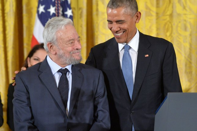 President Barack Obama awards the Medal of Freedom to composer Stephen Sondheim during a ceremony at the White House in Washington, D.C. November 24, 2015. File Photo by Kevin Dietsch/UPI
