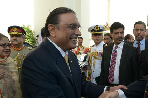 Former Pakistani President Asif Ali Zardari, pictured here in 2013, was arrested Monday after an extension of his bail was denied. File Photo by Presidential Palace Pakistan/UPI