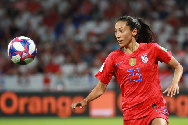 Christen Press has scored in five of her last six games for the United States Women's National Team. File Photo by David Silpa/UPI