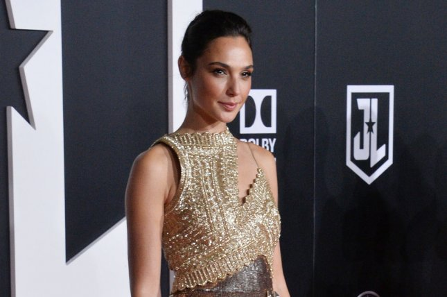 Gal Gadot attends the Los Angeles premiere of Justice League on Monday. Photo by Jim Ruymen/UPI