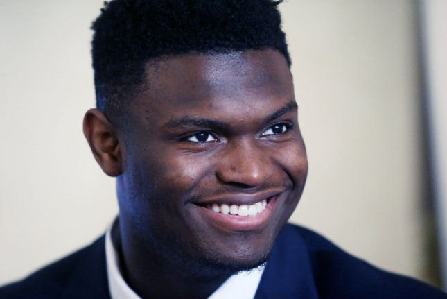 New Orleans Pelicans forward Zion Williamson was the No. 1 overall pick in the 2019 NBA Draft. File Photo by Bill Greenblatt/UPI