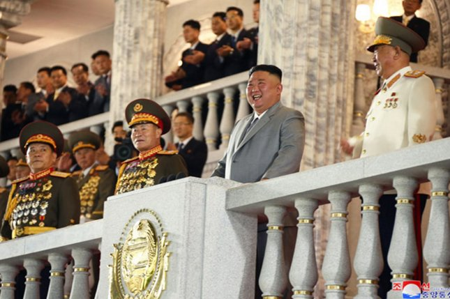 North Korean leader Kim Jong Un commended the state's artists Sunday, including Kim Ok Ju, a singer and actress who performed with South Koreans in 2018. File Photo by KCNA/UPI