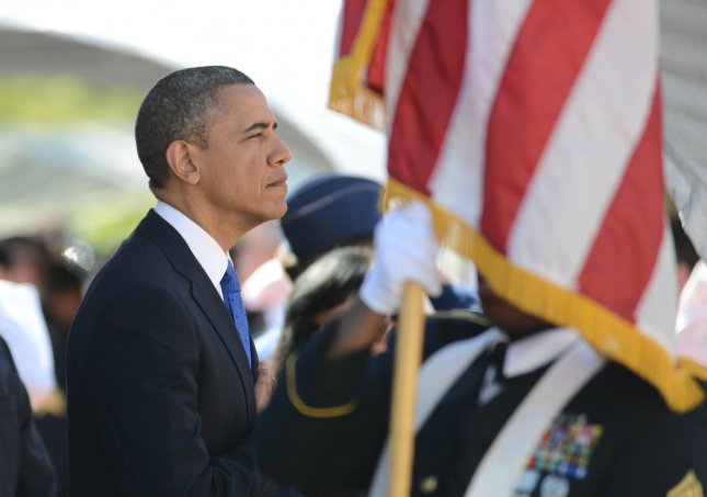 U.S. President Barack Obama attends a funeral service for the late Sen. Daniel Inouye, D-Hawaii, at the National Memorial Cemetery of the Pacific in Honolulu, Dec. 23, 2012. UPI/Cory Lum/Pool