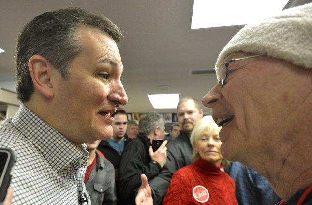 Texas Sen. Ted Cruz, campaigning in Iowa for the Republican presidential nomination, revealed this week that he and his family don't have health insurance. Photo by Mike Theiler/UPI