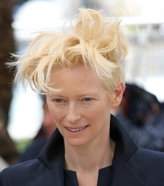 A Bigger Splash star Tilda Swinton arrives at a photo call for Only Lovers Left Alive during the 66th annual Cannes International Film Festival on May 25, 2013. File Photo by David Silpa/UPI