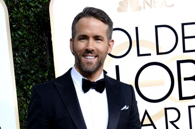 Ryan Reynolds attends the 74th annual Golden Globe Awards on January 8. The Deadpool actor has been named 2017 Hasty Pudding Man of the Year. Photo by Jim Ruymen/UPI