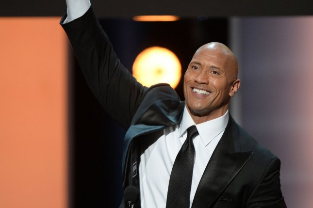 Actor Dwayne Johnson accepts the award for Entertainer of the Year onstage at the 48th NAACP Image Awards at the Pasadena Civic Auditorium in Pasadena, California on February 11, 2017. Photo by Jim Ruymen/UPI
