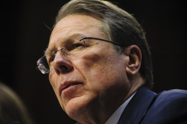 Wayne LaPierre, executive vice president and CEO of the National Rifle Association, testifies before a Senate Judiciary Committee hearing on gun violence on Capitol Hill in Washington, DC on January 30, 2013. -- UPI/Pete Marovich