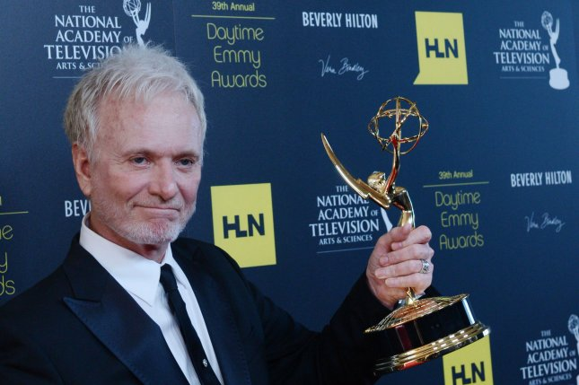 Anthony Geary appears backstage with the Best Actor in a Drama award he won for General Hospital, at the 39th annual Daytime Emmy Awards in Beverly Hills, California on June 23, 2012. Geary, who has played beloved scoundrel Luke Spencer off and on for more than 30 years on GH, picked up his seventh Daytime Emmy at the ceremony, setting a record for an actor. File photo by Jim Ruymen/UPI