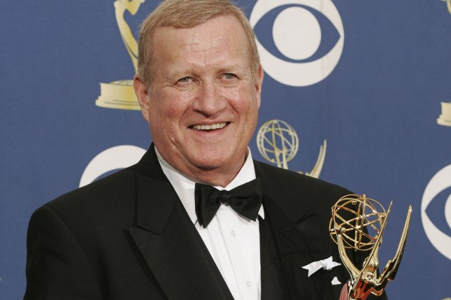 Actor Ken Howard holds his award for Outstanding Supporting Actor in a Miniseries or Movie for his role in Grey Gardens at the 61st Emmy Awards in Los Angeles on September 20, 2009. Photo by Lori Shepler/UPI