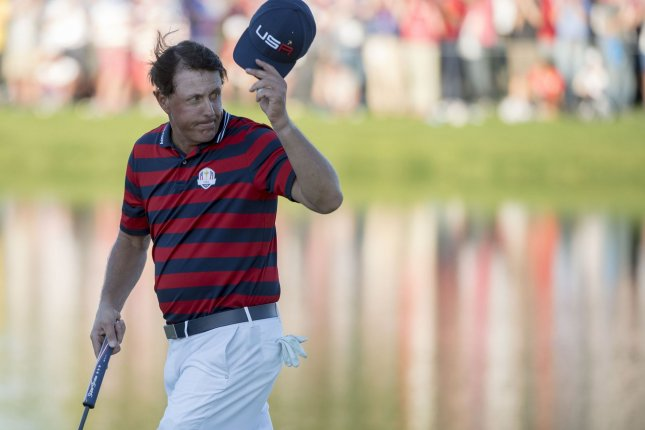 USA team member Phil Mickelson. Photo by Kevin Dietsch/UPI
