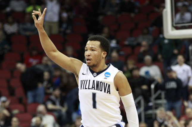 Villanova University G Jalen Brunson (1) is the Wildcats' second-leading scorer at 14.8 points per game and is a 39.6 percent shooter from 3-point range. Brunson leads off the list of 5 players to know in the East. Photo by John Sommers II/UPI