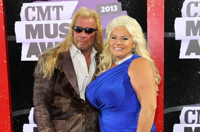 Duane Dog Chapman (L), pictured with Beth Chapman, offered a cash reward after a thief took Beth's possessions during a burglary at his family store. File Photo by Terry Wyatt/UPI