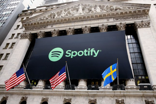 Netflix is developing a show about Swedish music streaming company Spotify based on the Sven Carlsson and Jonas Leijonhufvud book Spotify Untold. File Photo by Monika Graff/UPI