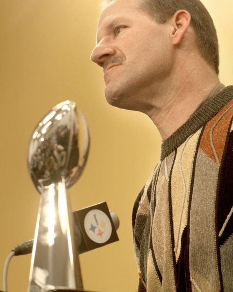 Bill Cowher, then coach of the Pittsburgh Steelers, in Pittsburgh, Jan. 5, 2007. (UPI Photo/Archie Carpenter)