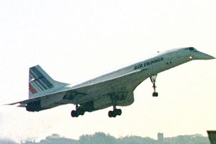 An Air France Concorde prepares to land at Kennedy International Airport in New York City Oct. 29, 2001. (The supersonic jetliner had been put into commercial service by Britain and France Jan. 21, 1976.) UPI/Monika Graff /FileI