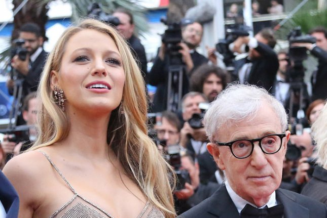 Blake Lively (L) and Woody Allen at the Cannes International Film Festival premiere of Café Society on May 11. File Photo by David Silpa/UPI