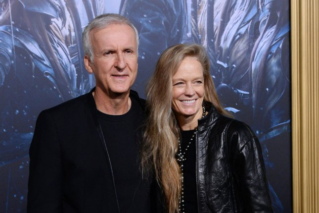 Director James Cameron and his wife, actress Suzy Amis, attend the premiere of the motion picture fantasy The Hobbit: The Battle of Five Armies in Los Angeles on December 9, 2014. Cameron's next Avatar movie is set for release in 2020. File Photo by Jim Ruymen/UPI